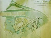 Grundriss und Gartenplan des von Landrat Friedrich von Gerstein zwischen 1820 und 1823 errichteten Gebäudes